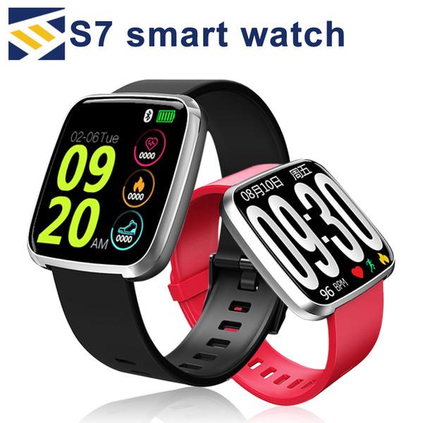 NEW for apple S7 Smart Bracelet Sport Fitness Tracker montre Smart Watch Waterproof Heart Rate Monitor Wristband pk fitbit id115 plus xiaomi