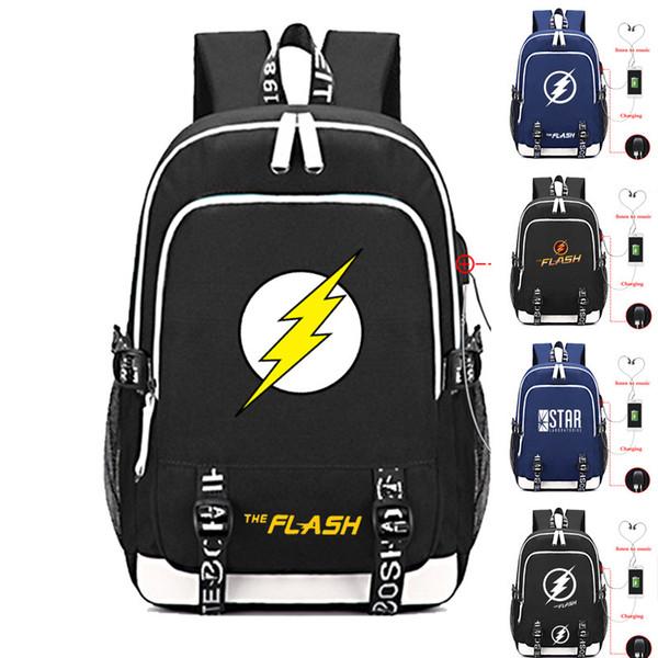 971c56f71be The Flash Laptop Bags Student School Bags Bookbag DC Comics Teens Shoulder  Travel Gift