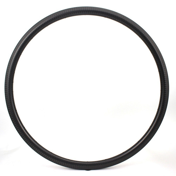 700c Road Bike Carbon Rim 30mm 6K Twill Matte Surface V Brake For Road Bike Or Cyclecross Gravel Bike