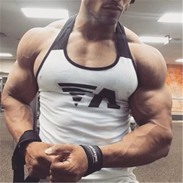 Ropa Hombre 2019 Men's New Fast-drying Body-building Sleeveless vest, Men's Sleeveless vest Sports Leisure Fitness Garment