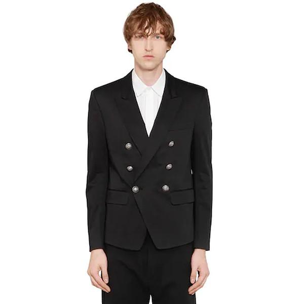 EXCELLENT QUALITY Baroque Designer Classic Men's Blazer Double Breasted Metal Lion Buttons Blazer Men's Jacket