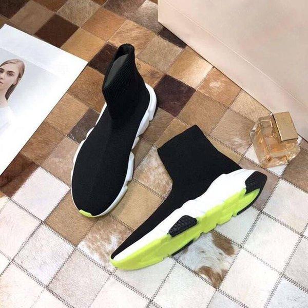 Socke Mens Womens Luxus Designer Freizeitschuhe Trick Bottom Slip-on Sneakers Mode Neue Übereinstimmungen Farbe Paare Socke zm22