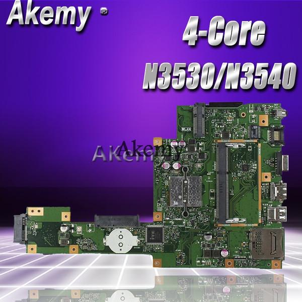 Akemy X553MA Scheda madre per laptop per ASUS X553MA X553M A553MA D553M F553MA K553M Test scheda madre originale N3530 / N3540 CPU a 4 core