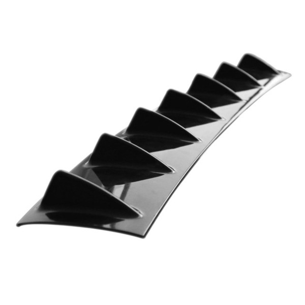 Universal Car Bumper Rear Diffuser 7 Fin Shark Fin Style Car Back Bumper Spoiler Lip Splitter Car Styling ABS Plástico Top