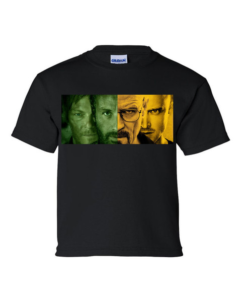 WALKING DEAD / BREAKING BAD BLACK OR WHITE MENS T SHIRT TEE sz : S M L XL Men Women Unisex Fashion tshirt Free Shipping