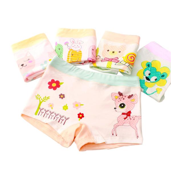 6 unidades / lote meninas novas pugilista respirável Algodão Material de crianças meninas Roupa para o bebê Calcinhas 3 5 7 9 Roupa infantil