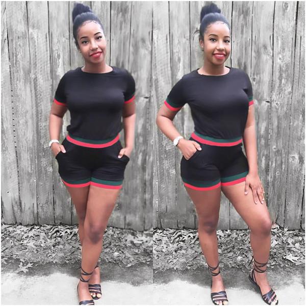 d50cc5c97c39e94 Женщины 2шт шорты костюмы летний отдых одежда больших размеров спортивные  костюмы брюки-карандаш модный дизайнер