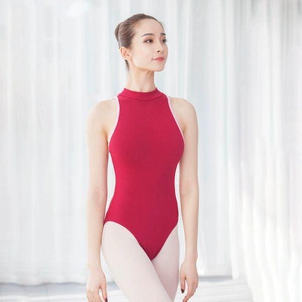 Muchachas adultas Leotardos de Ballet Mujeres Sexy Traje de Ballet Sin Espalda Mono Algodón Spandex Leotardos Sin Mangas para Mujeres