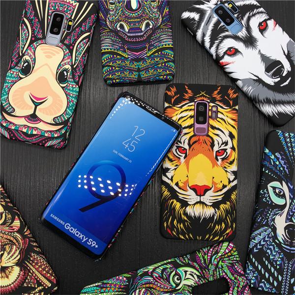 Mode leucht tier fall für samsung galaxy s9 s9 plus case tiger elefant hard phone cases für galaxy s6 s7 sedge e8