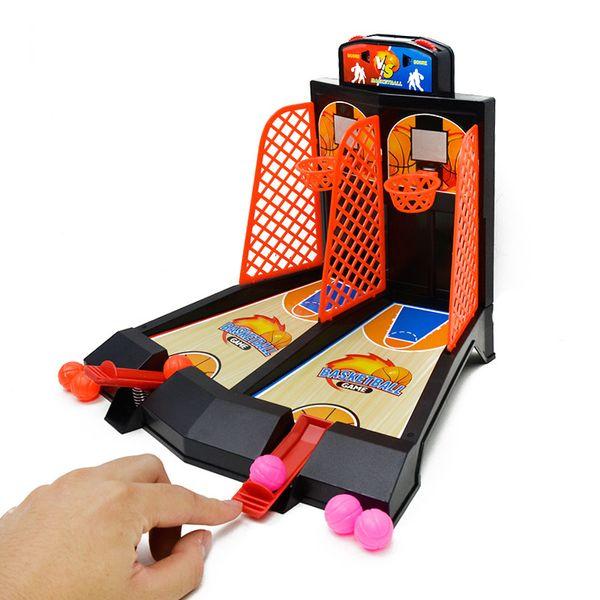 Giocattoli per bambini doppio dito eiezione pallacanestro console di gioco giochi da tavolo interattivi giocattoli mini macchina di tiro benvenuto a comprare