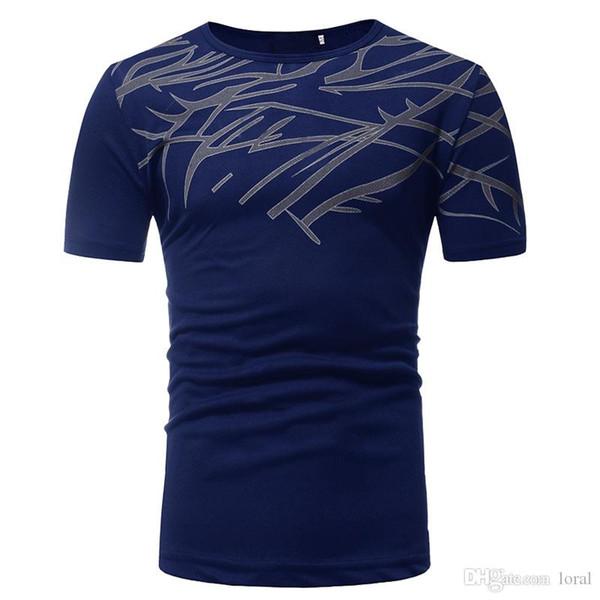 Mens High Street Kleidung Lässige Printed T-Shirts Sommer Male Crew Neck T-Shirts Kurzarmshirts freies Verschiffen