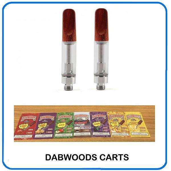 DABWOODS Cartuchos Carts 1.0ml 0.8ml Ceramic Coils Dicas de madeira Vaporizador Oil Grosso Vapor Pen 10 sabor para a opção 0266288-1