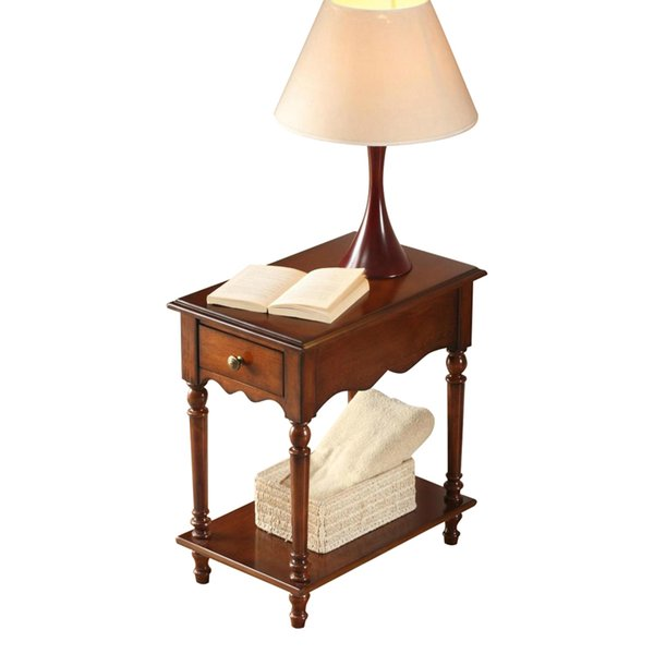 New European classical style simple wood sofa edge several corners flower shelf tea table side cabinet telephone coffee table,Bedside table