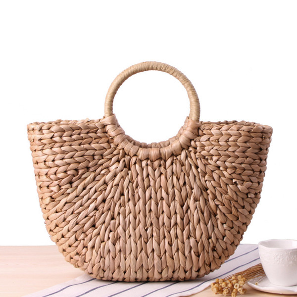1Women Bags Designer Handmade Straw Bag Rattan Knitted Tassel Summer Beach Bag Bolsa Feminina Large Capacity Totes Women Bucket