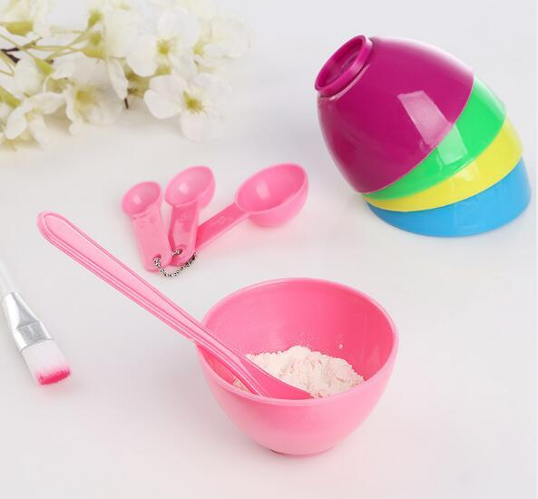 best selling New Health 4 in 1 DIY Facial Mask Mixing Bowl Brush Spoon Stick Tool Face Care Set High Quality