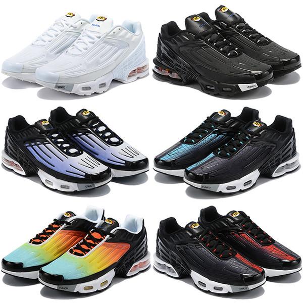 Inoltre TN 3 III scarpe da uomo addestratori correnti nero bianco tramonto donne degli uomini di sport scarpe da tennis all'aperto raffreddare Formatori grigio 36-45