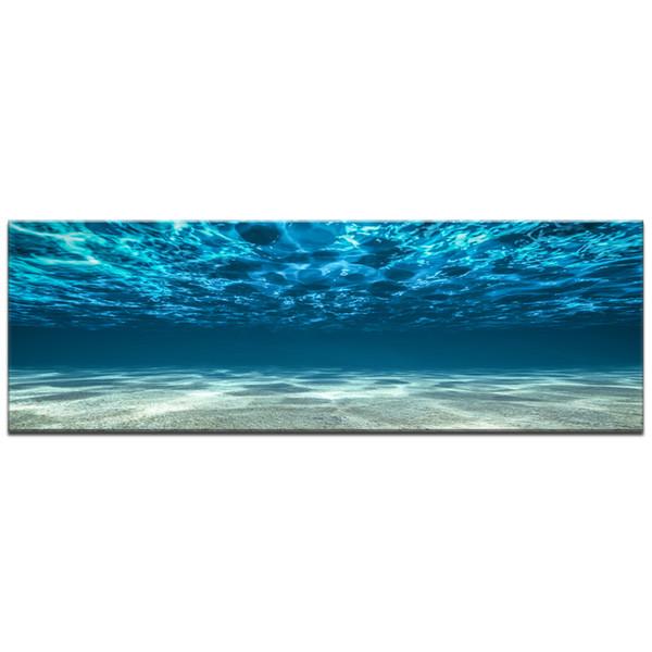 Azul del mar del océano Canvas Art Pared impresión del cartel de obras de decoración para el hogar pintura Imágenes Bajo el mar con vistas al mar en la lona para SH190918 regalo
