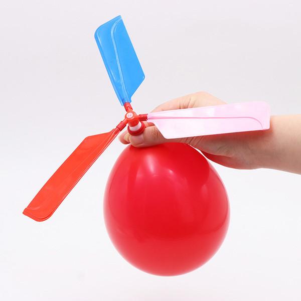 Engraçado som voando helicóptero balão ufo crianças balão criança crianças brincam voando brinquedo bola ao ar livre auto-combinados brinquedos de balão