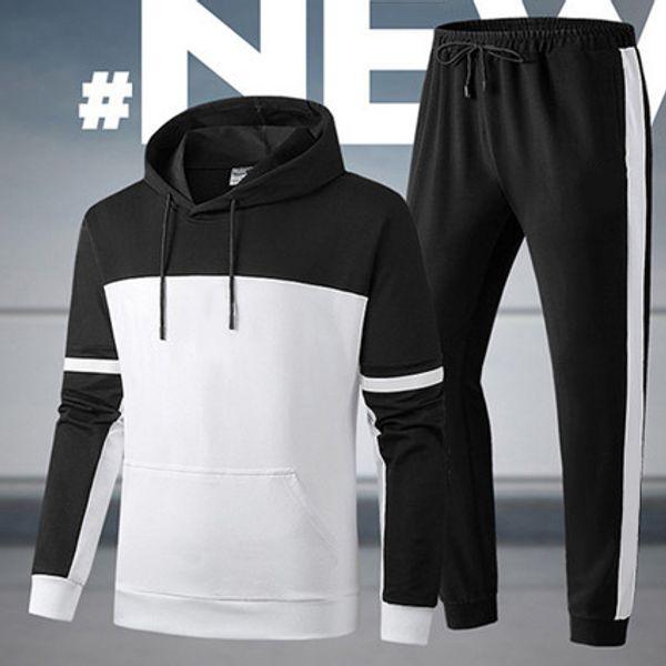 Erkek Tasarımcı Eşofman Toptan Kapüşonlu Ceketler Patchwork Marka Kitleri Spor Aktif Ceketler + Pantolon Takım Elbise Kıyafet Koşu Rahat Spor Salonu LJJ98311