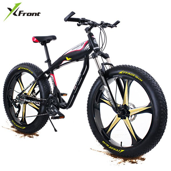New X-Front Aluminum Alloy Frame 4.0 Wide Fat Tire 27 Speed Oil Disc Brake Mountain Snow Beach Bike Outdoor Downhill Bicycle