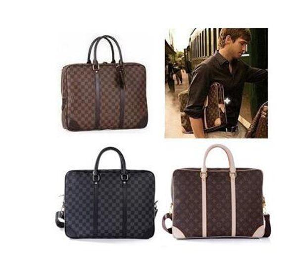 Cowhide W12LOUIS VUITTON mens laptop bag MICHAEL 0 KOR briefcase business package CLUTCH messenger package LOUIS