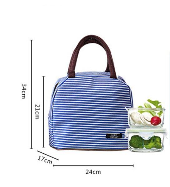 Neue Mode Tragbare Isolierte Leinwand Lunchpaket Thermische Lebensmittel Picknick Mittagessen Taschen Für Frauen Kinder Männer Kühler Lunchbox Tasche Tote