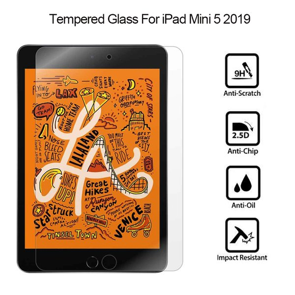 For iPad Mini 1 2 3 4 i Pad Mini 5 2019 7.9 inch Tablet Tempered Glass Screen Protector Film +Package