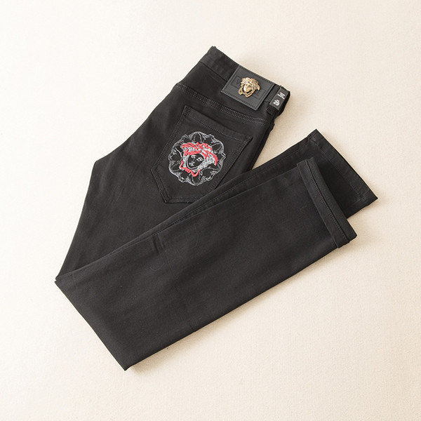 Yeni Geliş Moda Erkek Wear Özgün Tasarım Erkekler Jeans Mükemmel Kalite Pantolon Düz Pantolon Moda Tide Pantolon Wwq997 Fyzz