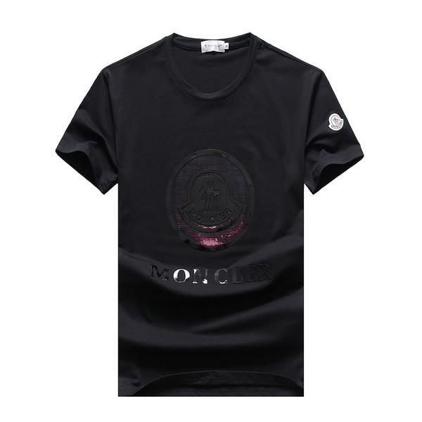 fenge888 / 2019 Herren Designer T-Shirts Mode mercerisierter Baumwolle bunte T-Shirt Herren hochwertige Baumwolle Sommer Kurzarm Marken Herren T-Shirts