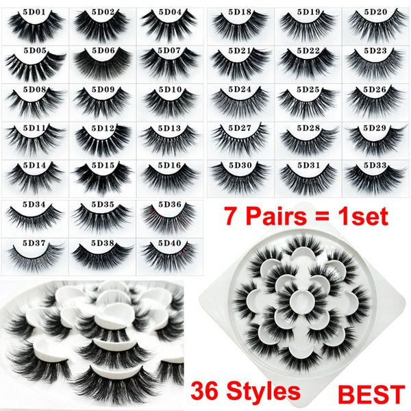 Eye makeup 3d mink fal e eyela he 7 pair dramatic handmade la he exten ion natural thick oft volume faux mink eyela he dhl