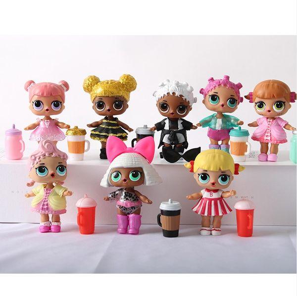 Poupées pour LOL Cartoon petit cheval Unicorn Rainbow Surprise Action Ball animale Figurine Toy Anime Girl cadeau d'anniversaire