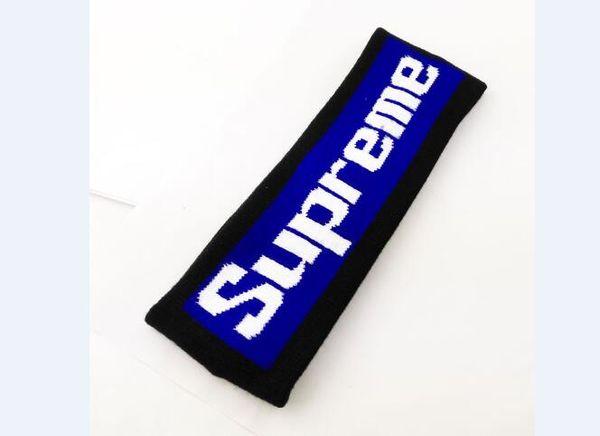 019 fashion trend headband for men and women balck & red & blue sup letter headband sport Elastic hairband Popular sup headband