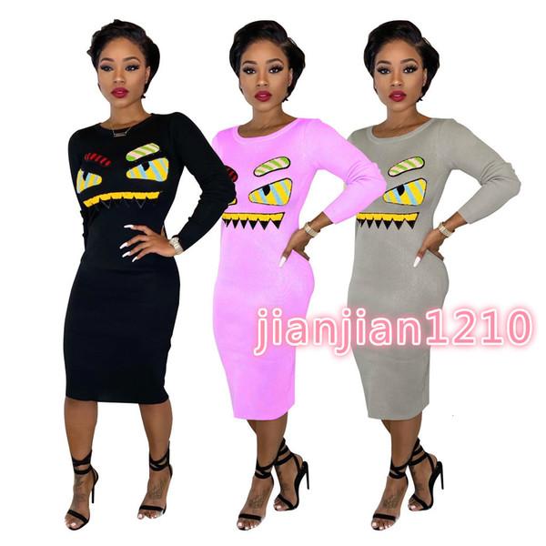 YZ1156 европейских и американских трансграничный женской одежды мода мультфильм вышивка весной и осенью платье