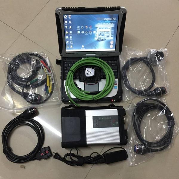 2019 nueva llegada Herramienta de diagnóstico MB STAR C5 con CF-19 hardbook laptop 4g ram ejecutar rápido instalado 360 gb ssd