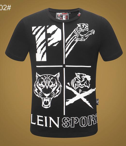 100% baumwolle marke schädel t-shirt herren sommer luxus kleidung kurzarm hip hop tops tee mann Mode Punk designer t-shirt Asien Größe M-3XL