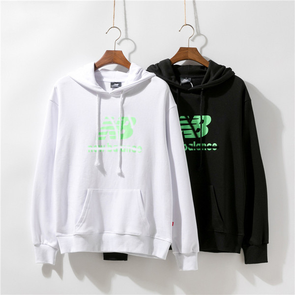 Hot 2019 autumn European top design fashion cool men and women sweater 100% cotton high quality hooded shirt black and white m~xxl