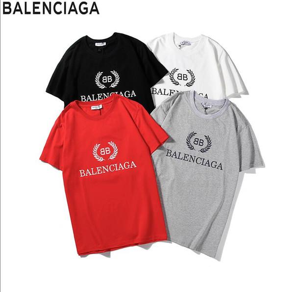 Explosion models new T-shirt men's solid color striped shirt T-shirt fashion summer letter printing men's shirt clothing