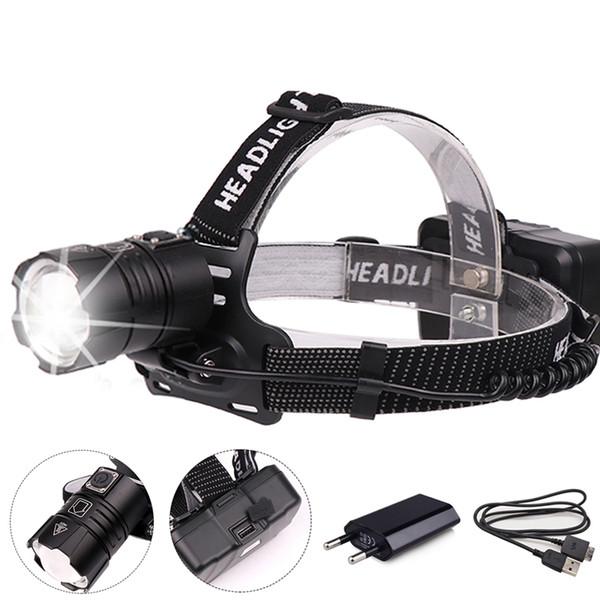50000lumens XHP70 proiettori a LED più potente faro USB ricaricabile 18650 stradale hoofdlamp mineraria impermeabile fari led