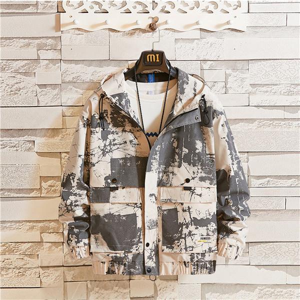 Marque de haute qualité à manches longues 2019 Nouveau Designer Mode Hommes en vrac et coupe-vent de couleur naturelle pour le sport Manteaux Casual avec M-4XL B101301Q