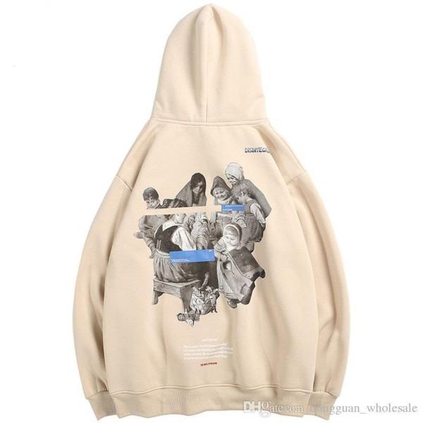Hip Hop Erkekler Hoodie Kazak Çocuk Parti Streetwear 2019 Kış Polar Hoodies Kazak Pamuk Sonbahar Kalın Ter Hoodie