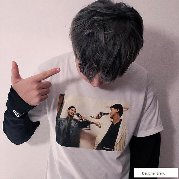 18fw The Killer Trust Tee Box Logo Tee Street Skateboard Camiseta de hombre Moda de manga corta Casual al aire libre LOGO Camisetas estampadas HFTTTX009