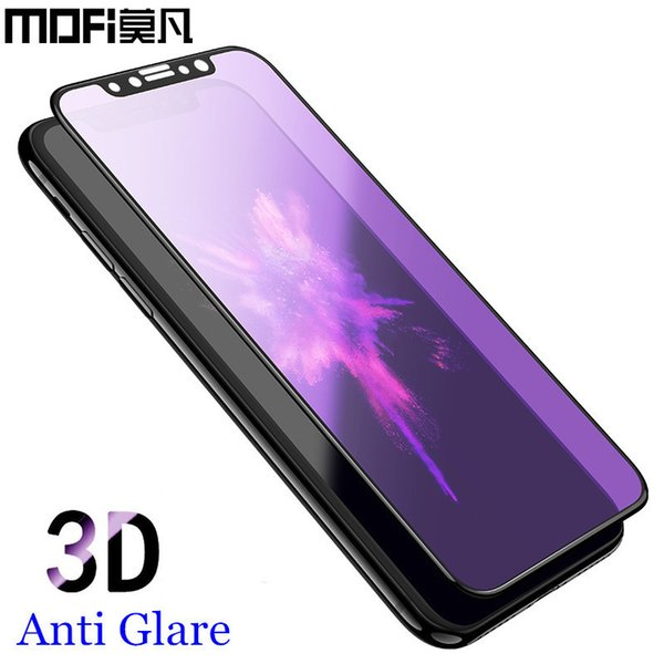 For Iphone X Tempered Glass 3d Full Cover Screen Protector For Iphonex Protective Film Mofi Original For Apple Iphone X Glass J190505