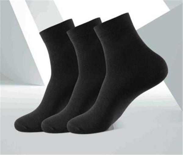 Erkekler Basit Çorap Tasarımcı Tek Renk Elastik Ayak Isıtıcıları Biçimsel Çorap 2020 İlkbahar Sonbahar Erkekler Pamuk İç Giyim