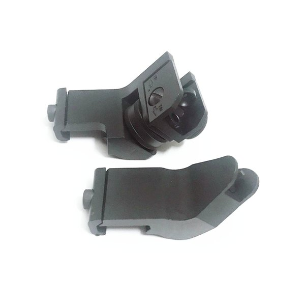 Metal Front & Rear RTS Rapid Transition Sights / Offset 45 Degree Angled Iron Sight SET DUECK DEFENSE Tactical front sights