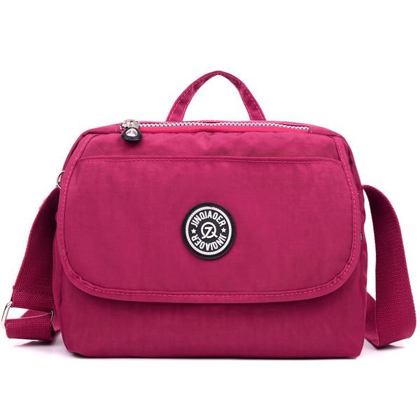 Women s Handbag Fashion Casual Portable Shoulder Bag Light Travel Lady  Waterproof Nylon Messenger Bag Multi Pocket 25111fe1f6f1a