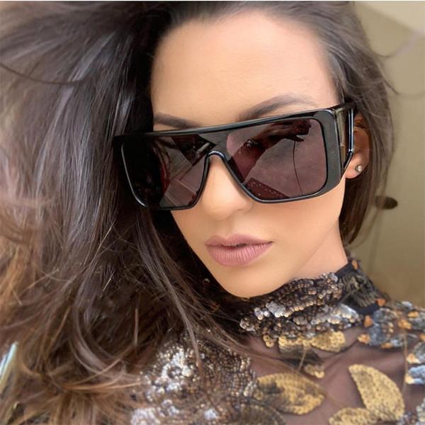 857733623237c Oversized Quadrado Óculos De Sol Das Mulheres Retro Marca Designer  Gradiente Óculos De Sol Dos Homens