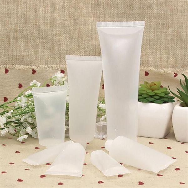 15 ml 20 ml 30 ml 50 ml 100 ml Kunststoff Leere Reisekosmetik Weiche Rohre Milchflasche Lotion Shampoo Squeeze Container mit Schraubverschluss