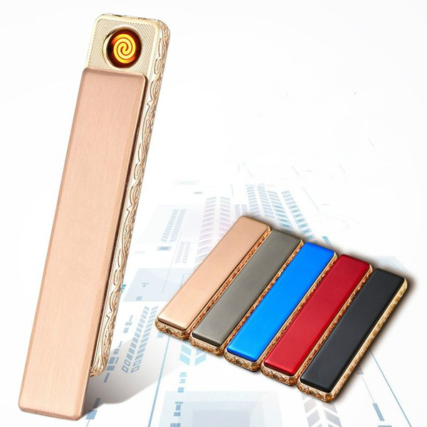 Usb Charging Metal Lighter Electronic Cigarette Lighters Small Rechargeable Electric Lighter Windproof Men Gift