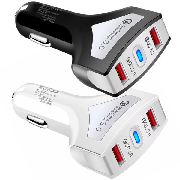 Dual Port QC3.0 Fast Charge 3.4A Quick Charge Car Charger 2 USB Fast Charging Phone Charger For iphone 6 7 8 X XR Samsung S8 S9 S10 Mp3 Gps