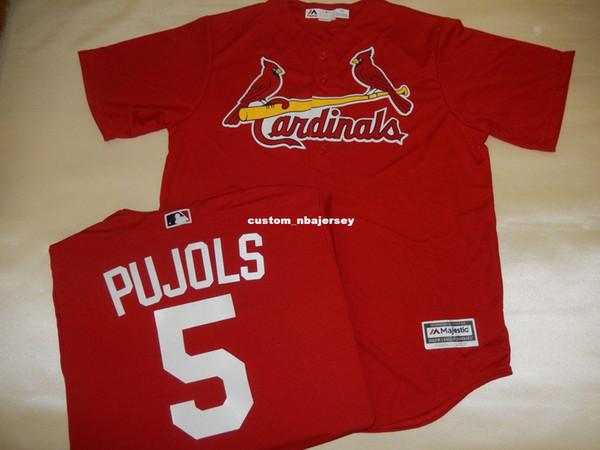 Cheap custom ALBERT PUJOLS SEWN Baseball Jersey New Stitched Customize any name number MEN WOMEN BASEBALL JERSEY XS-5XL
